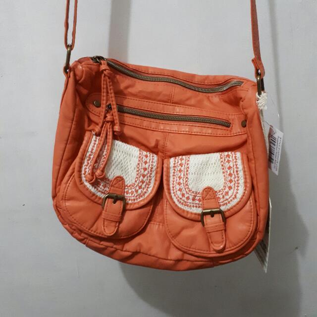 BRAND NEW | Tshirt & Jeans Orange sling bag