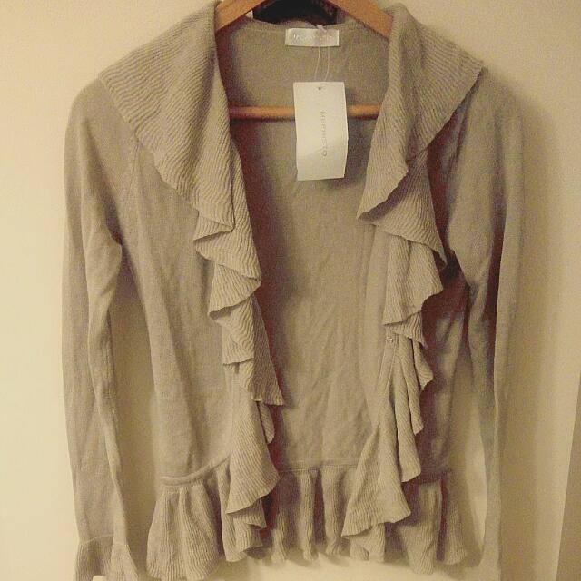 Brand new beige Cardigan With tags