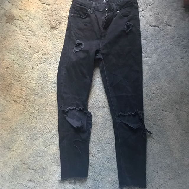 Brand New Top Shop Skinny Black Jeans