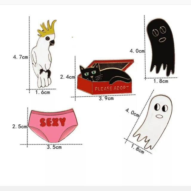 BUY 3 FREE 1] Cute Sexy Ghost Box Cat Enamel Pin Brooch