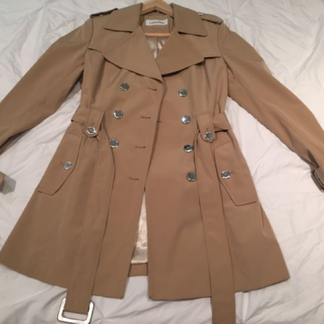 Calvin Klein Trench Coat - Size XS