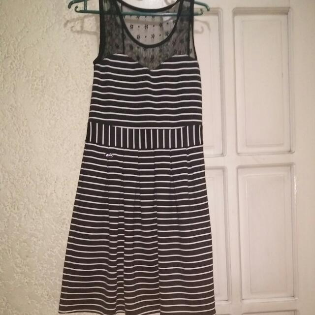Candie's Blacked Striped Dress