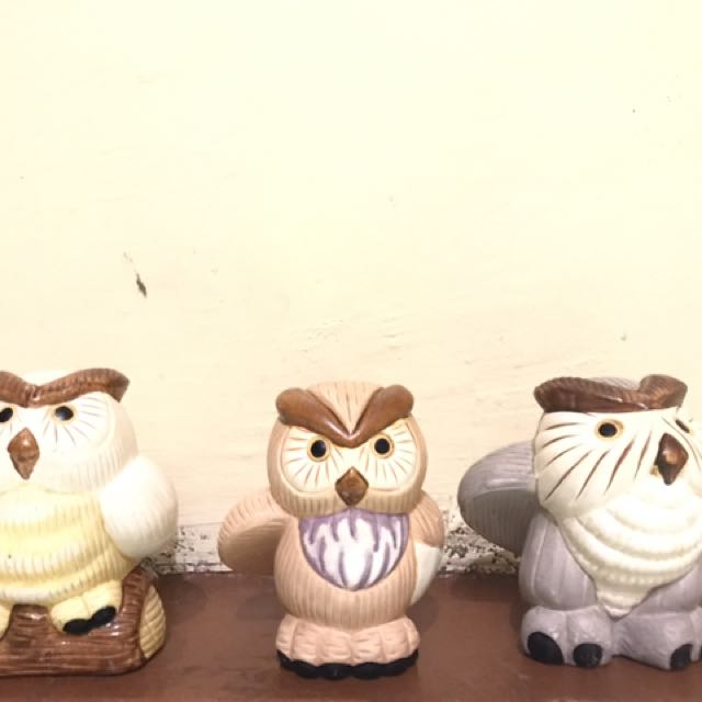 Ceramic Owls (1 Set)
