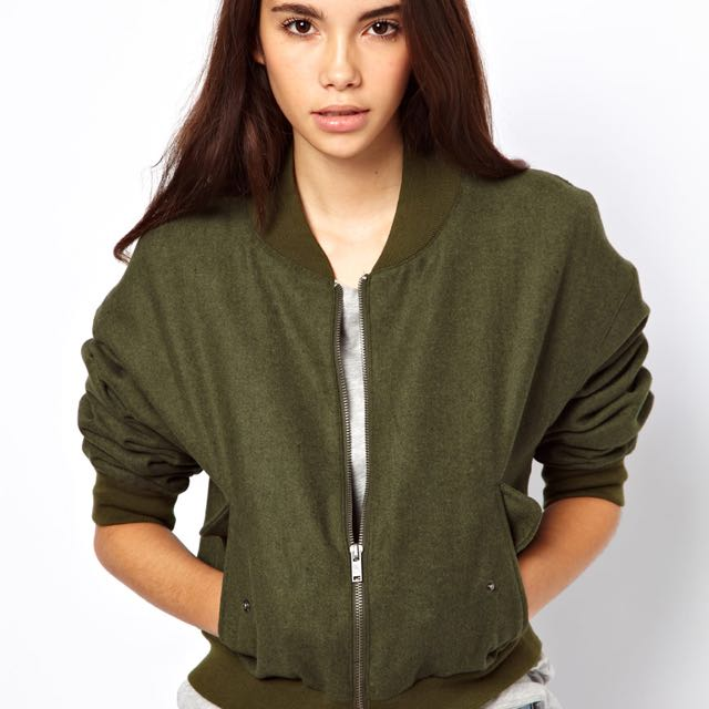 Cheap Monday Green Bomber Jacket