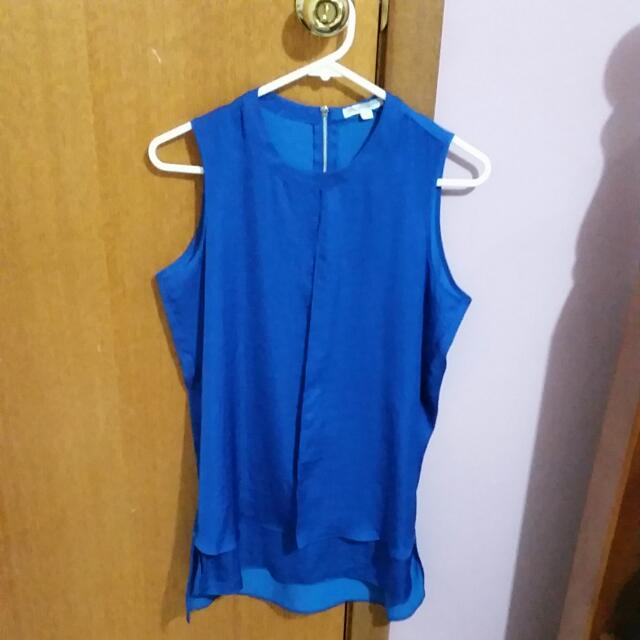 Cobalt blue Work Or Formal Top