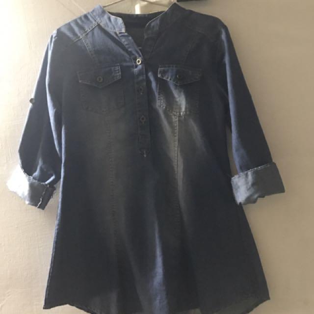 Denim Blouse Baju Jeans