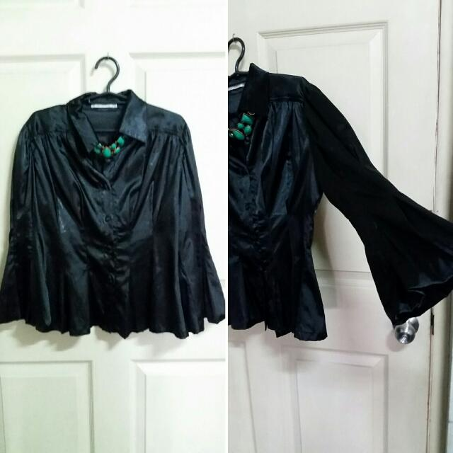Elegant Black Top (Silk)