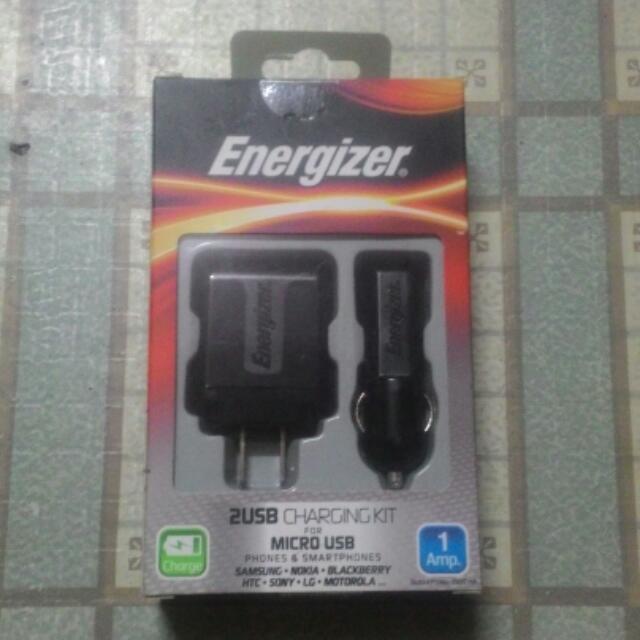 Energizer 2in1 Micro USB Charging Kit
