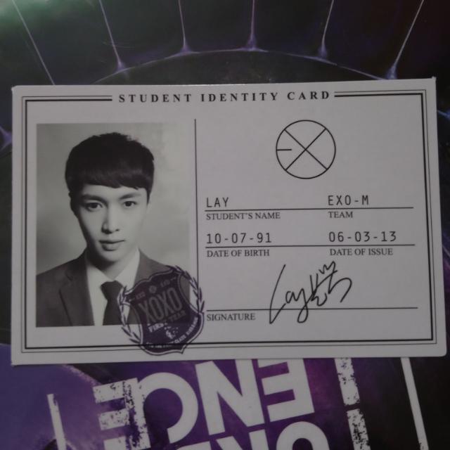 EXO Lay Identy Card