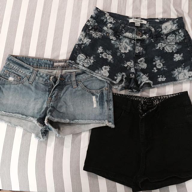 Forever 21 Shorts (2) + Penshoppe Shorts