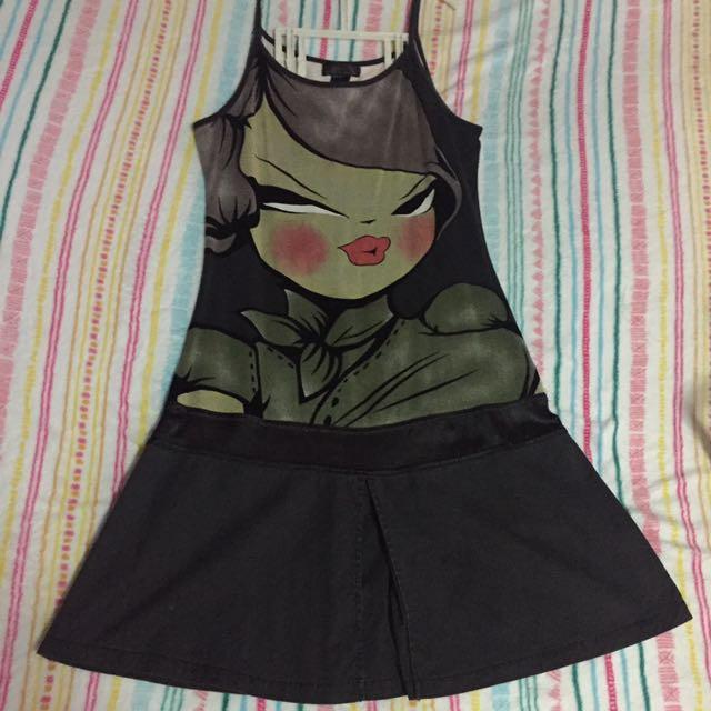 Face Dress Black