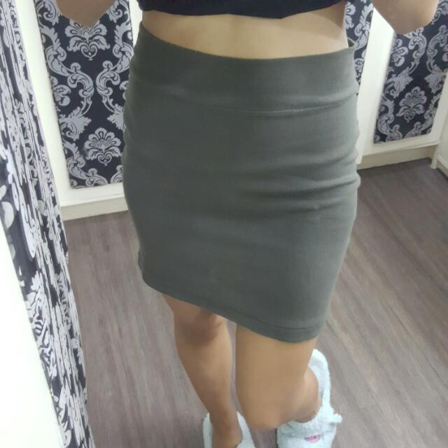 Forever 21 Army Green Fit Mini Skirt