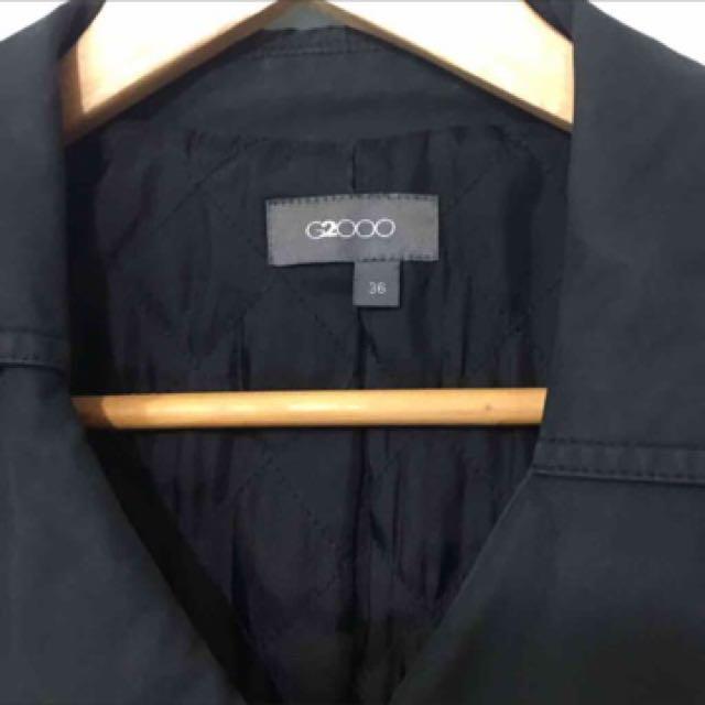 (可換物)G2000黑色風衣外套
