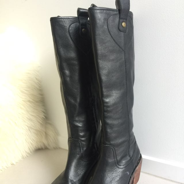 Genuine Leather Boots - Minx Size 36