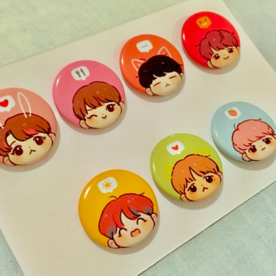 [GO] BTS fansite buttons and pins