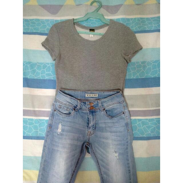 Jewels Gray Top (Thick)