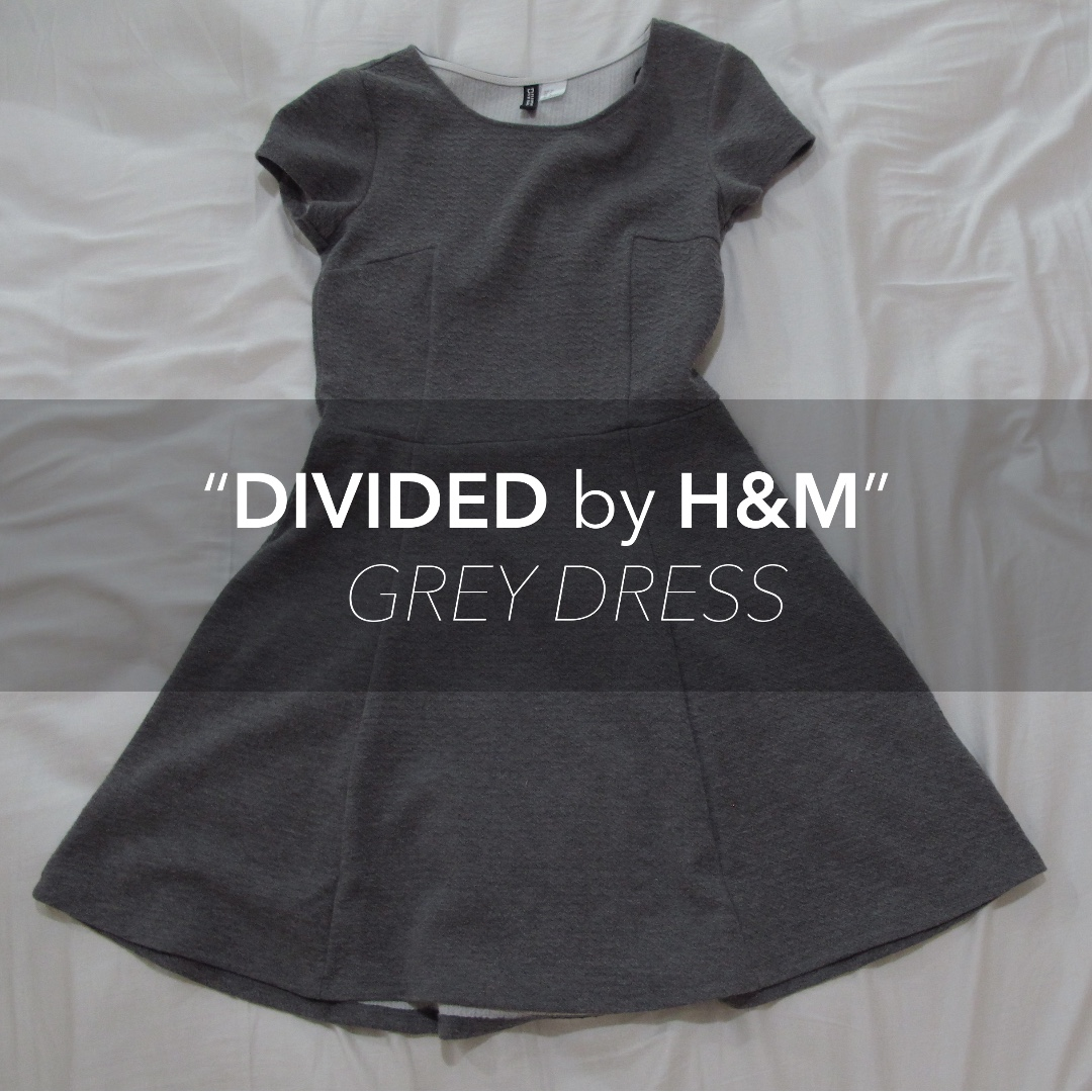 Grey DIVIDED by H&M dress