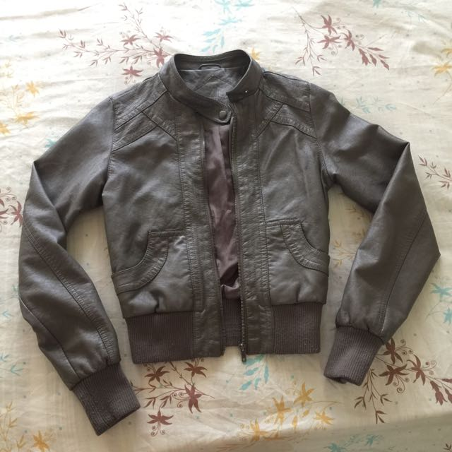 Gray Leather Jacket From ireland