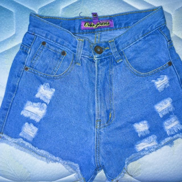 High Waist Maong Shorts
