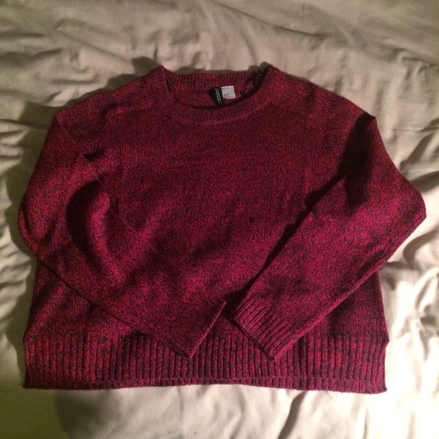 H&M Deep Red Sweater