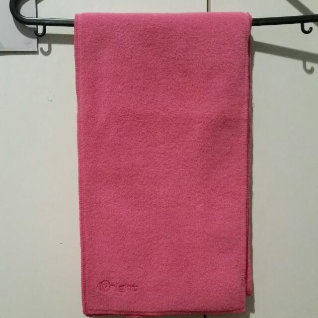 Hot Pink Fleece Scarf