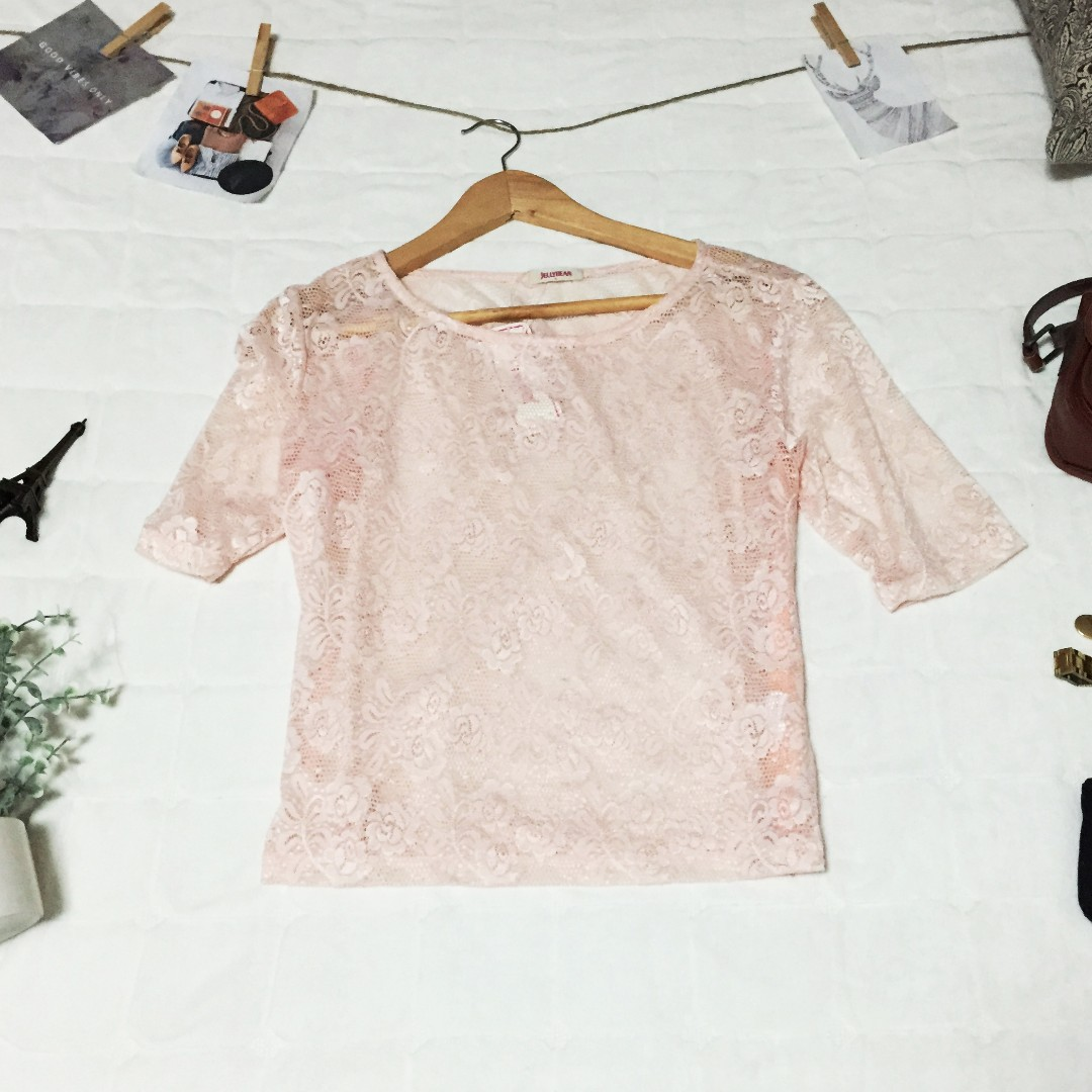 Jelly Bean Lace Top
