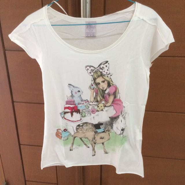 Kaos Zara alice in wonderland