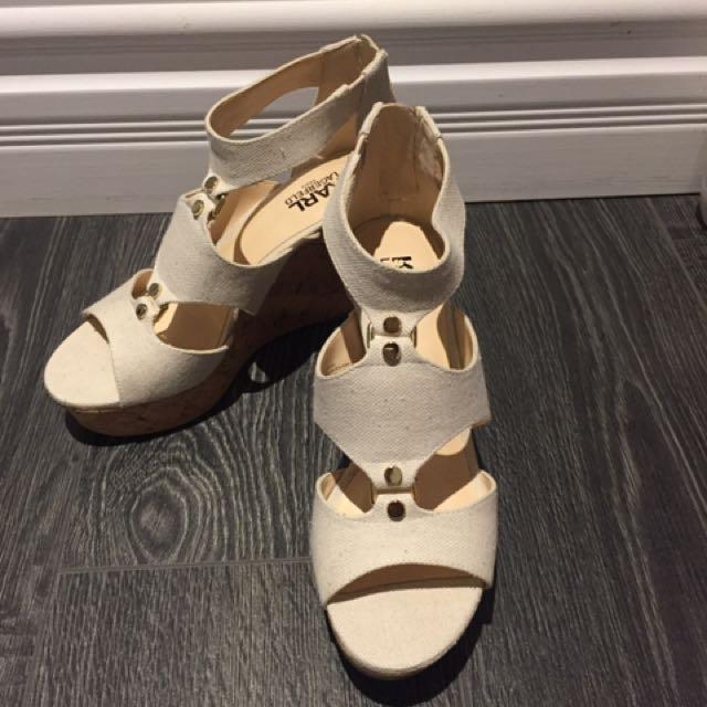 Karl Lagerfeld Wedge Sandals Size 7