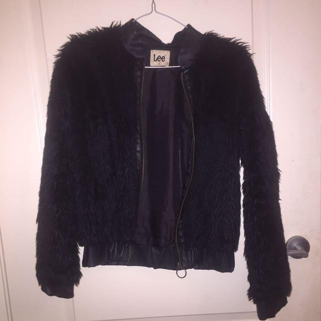 Lee Faux Fur Bomber Jacket