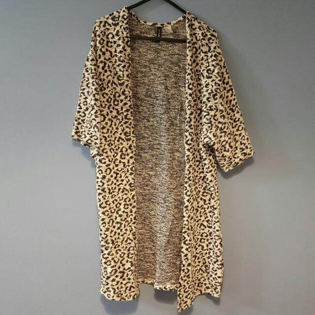 Leopard Print Cardigan XS
