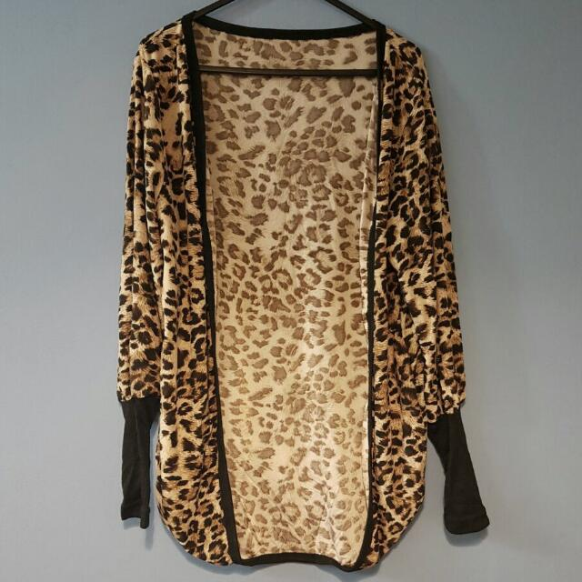 Leopard Print Stretch Cardigan