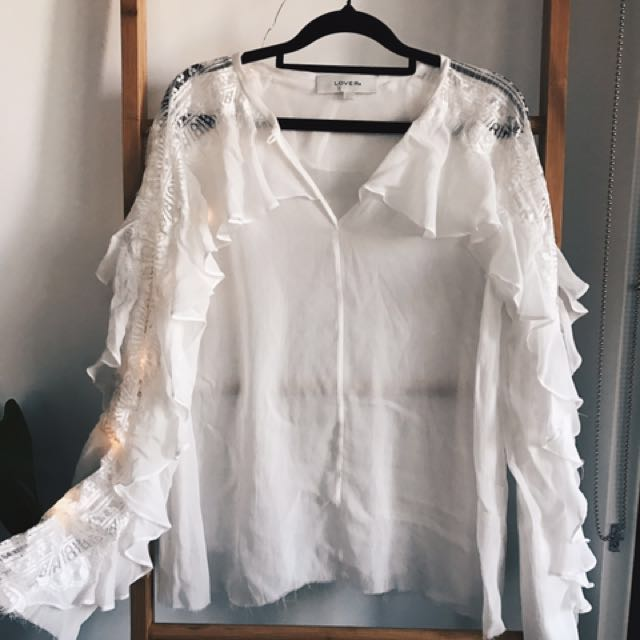 LOVER sheer blouse
