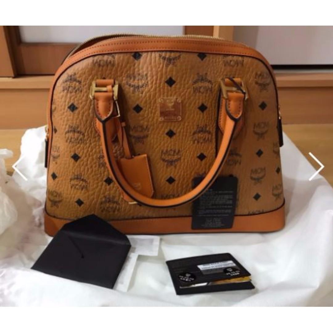 Cognac Bowler In Heritage Bag Mcm Tbodshqrcx
