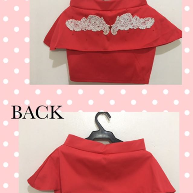 Mermaid Red Skirt