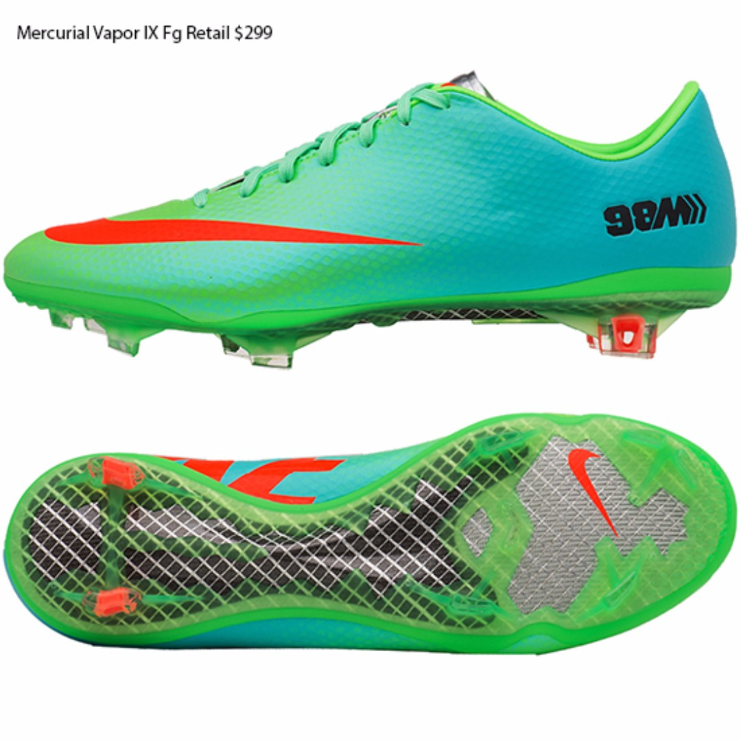 9d1ba450555 Nike Mercurial Vapor IX Fg Lime Crimson US 8.5 (Including Delivery ...