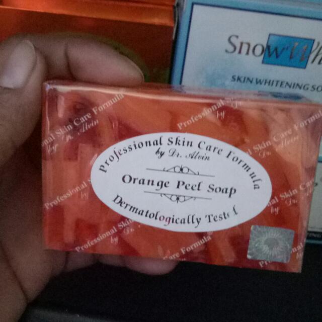 Orange peel soap by Dr Alvin