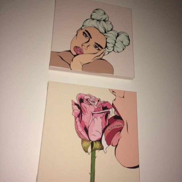 original Popart Canvas Print By Me