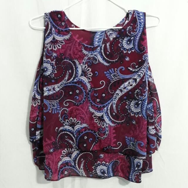 Paisley Flowy Top