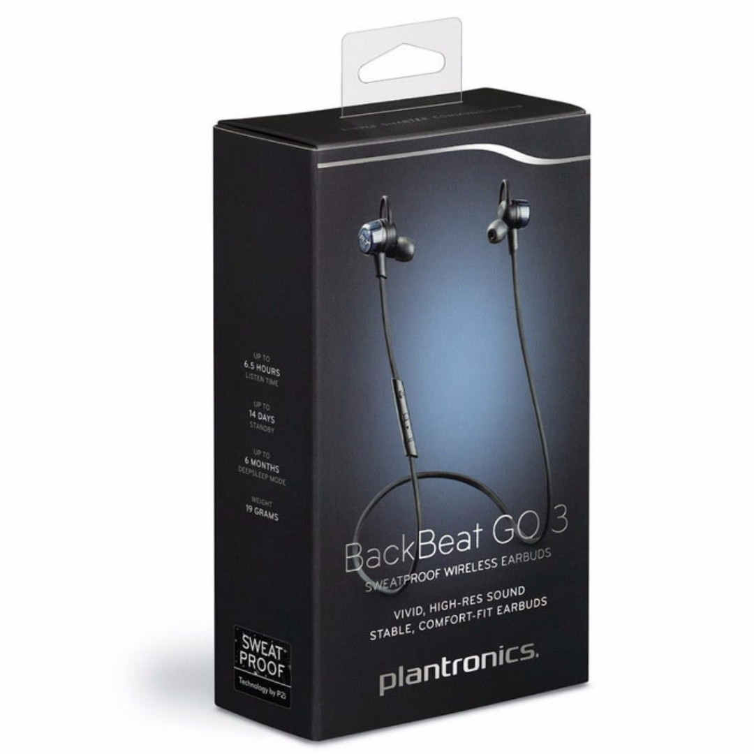 super popular 993aa 58805 Plantronics Backbeat Go 3 Wireless Bluetooth Headphones with Charge Case