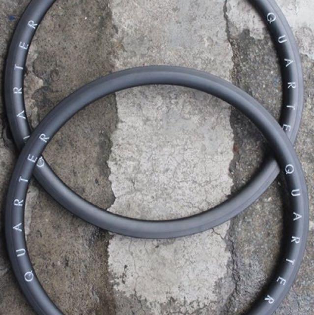 Quarter Carbon 700c Rims Road/Fixed Gear