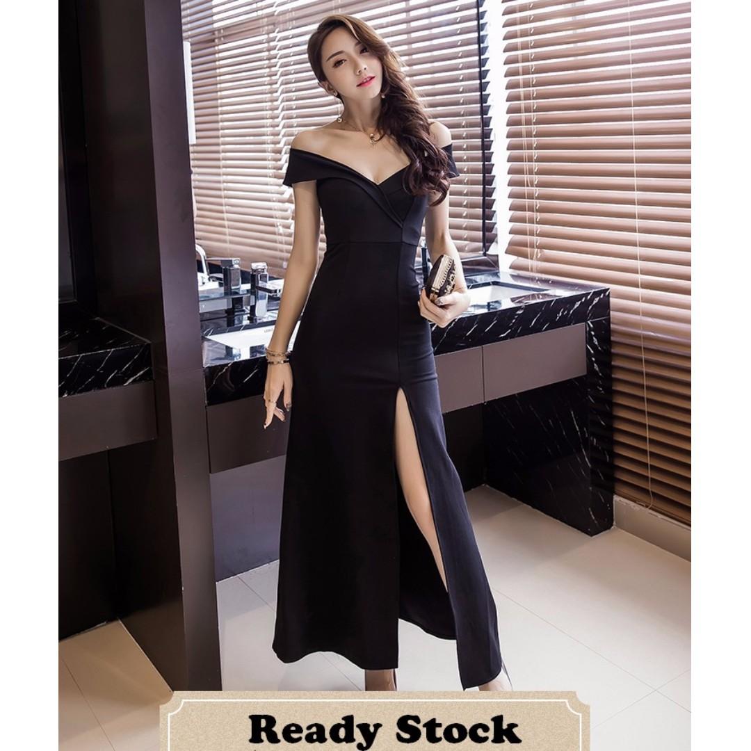 Ready Stock KL) Woman Dress Dinner Dress Long Evening Gown Bodycon ...