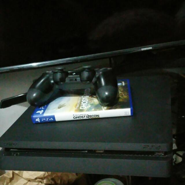 Rush!!! Sony Ps4 Slim With Warranty And Game