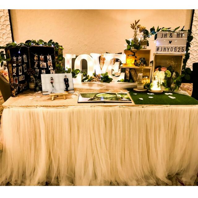 Rustic Garden Theme Wedding Photo Album Table Setup Photography On Carousell