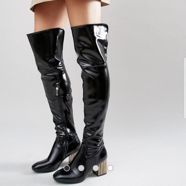 Size 9 (40) | Over The Knee Boot, Shine Look