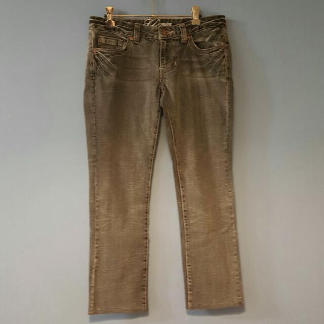 Straight Cut Low Rise Jeans Size10