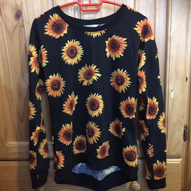 Sunflower Long Sleeve Black Shirt