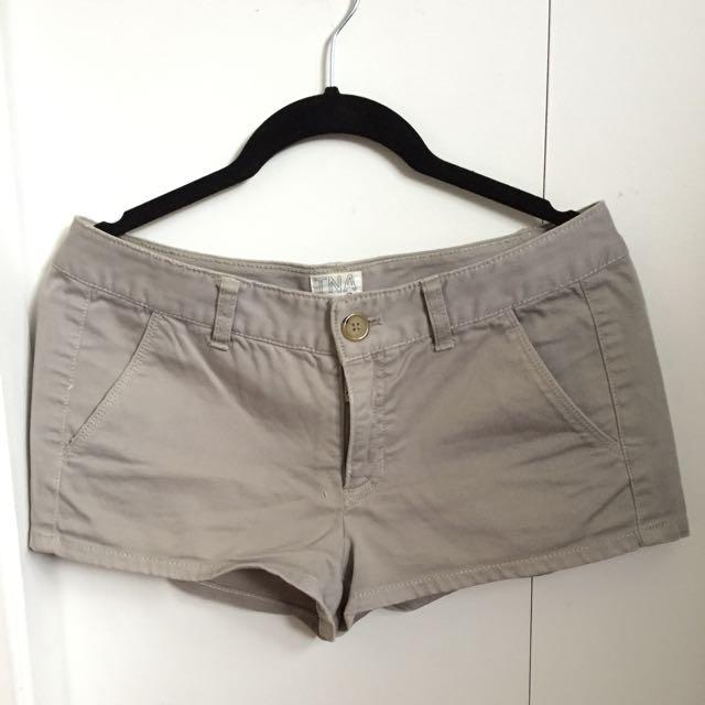 TNA light grey shorts