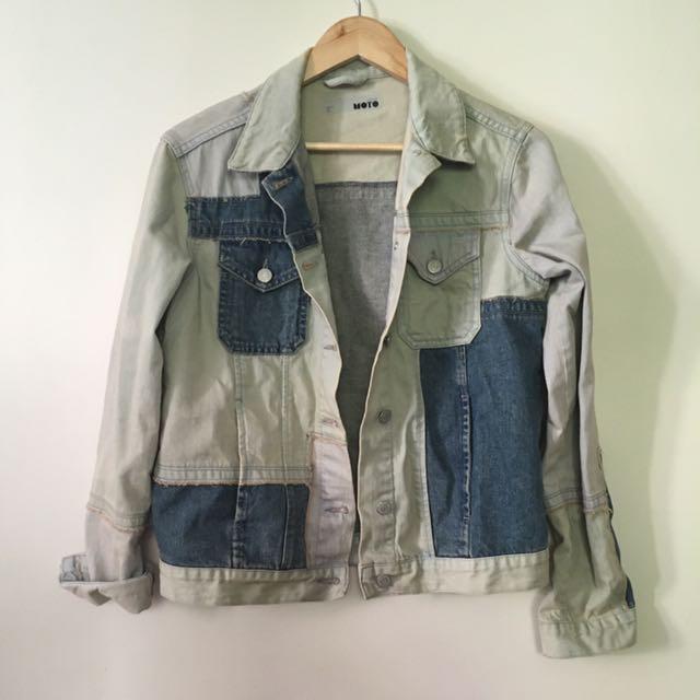 Topshop Denim Jacket Size 8 Oversized