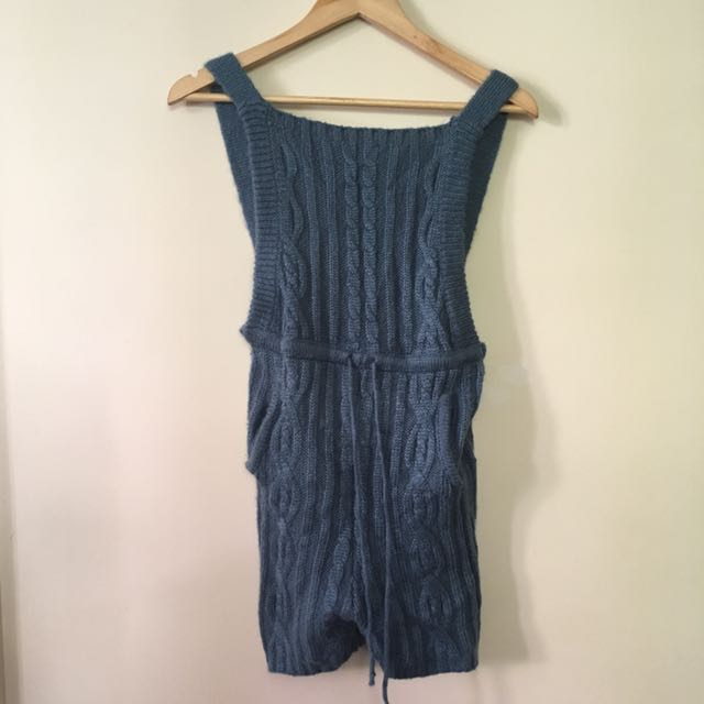 UNIF BLUE KNITTED OVERALLS Size S
