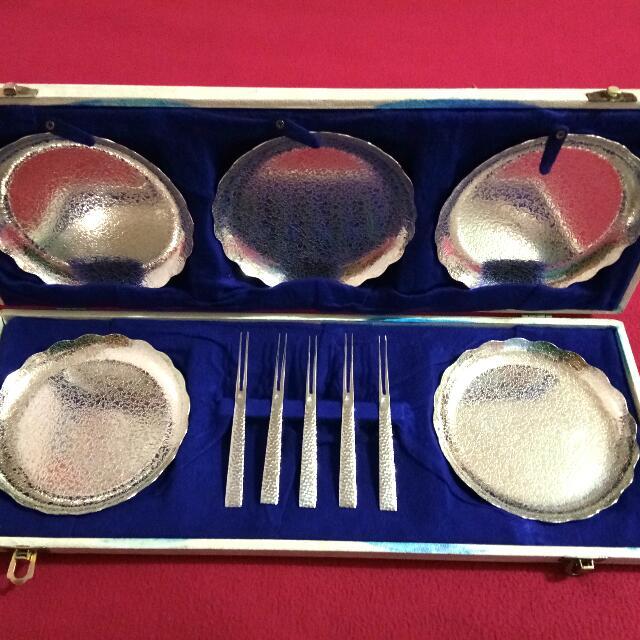 Vintage Asura Silver Saucer Plate